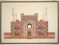 Entrance gateway to Akbar's mausoleum, Sikandra 1803